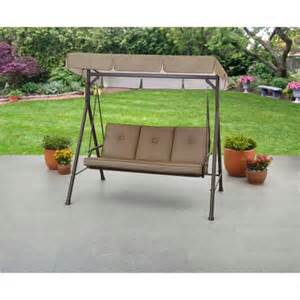 mainstays maddison 3 seat cushion swing brown walmart com