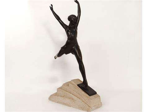 superbe sculpture m 233 tal femme olympie feyral le verrier d 233 co xx 232