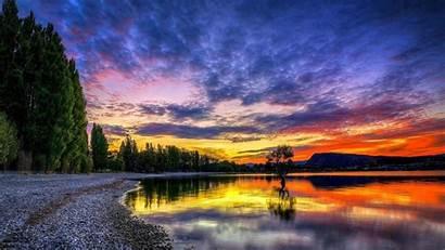 Sunset Landscape Twilight Scenery Wallpapers Desktop Beach