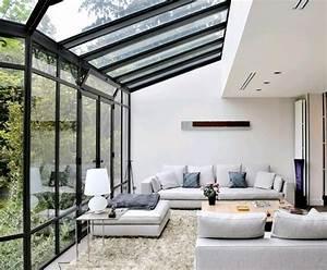 Wintergarten Einrichtung Modern : terrassen berdachung glas wintergarten einrichten wohnideen pinterest ~ Whattoseeinmadrid.com Haus und Dekorationen