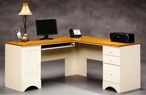 Sauder Harbor View Corner Computer Desk by Sauder Harbor View Antique White Corner Computer Desk At