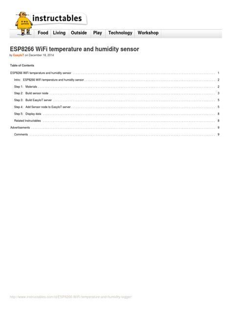 ESP8266 WiFi Temperature and Humidity Logger | Arduino