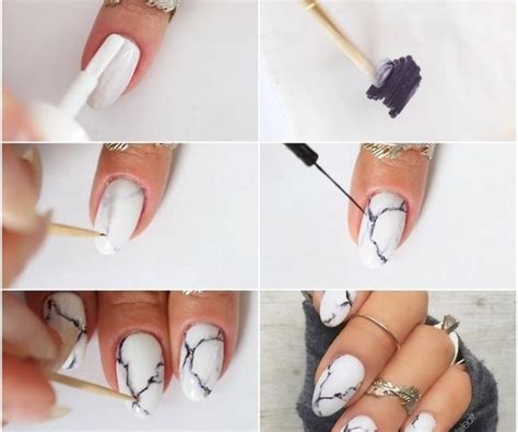 marble nails  home  sharpie diy marble