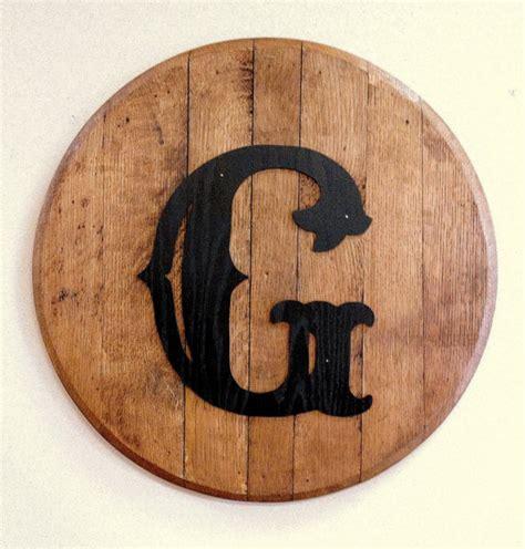 bourbon barrel head lid personalized