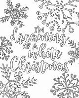 Coloring Christmas Pages Adult Printable Dreaming Im sketch template