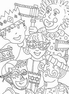 Mardi Gras Coloring Pages For Children