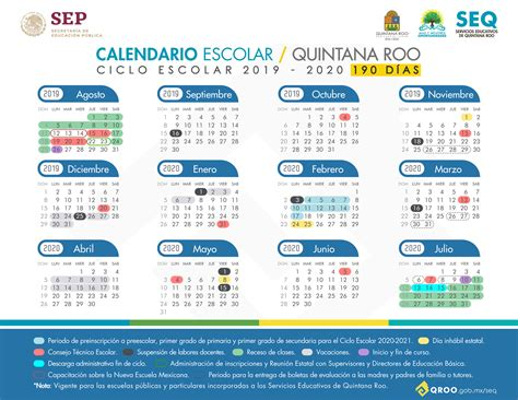 calendario escolar ciclo escolar escuelas