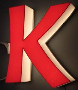 large mid century metal letters gluc and illuminated With large plastic letters for sale