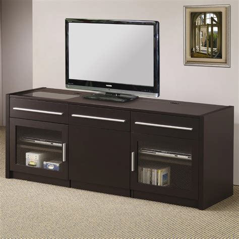 coaster contemporary tv console mobile computer