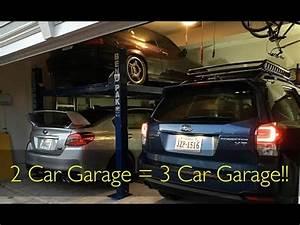 Garage Größe Für 2 Autos : i put a lift in my 2 car garage youtube ~ Jslefanu.com Haus und Dekorationen