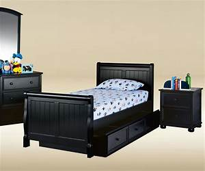 cottage style sleigh twin black bed black beds for kids With cottage style twin beds