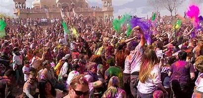 Holi Festival Indian India Party Street Animated