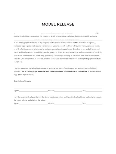 20461 model release form model release form 8 free templates in pdf word excel