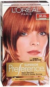 Garnier Light Brown Hair Dye L 39 Oreal Superior Preference Hair Color 6r Light Auburn New