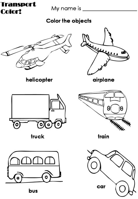 Means Of Transportation  English Teacher? O Prof De Français?  Preschool Pinterest