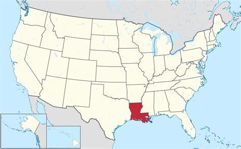 En muchas palabras se representa con el. File:Louisiana in United States.svg - Wikimedia Commons