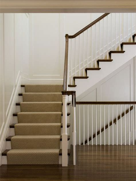 tapered  spindles modest sized newel post square