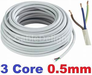 3 Core 0 5mm 3 Amp Pvc Flexible Cable 1m 5 100m Round Flex