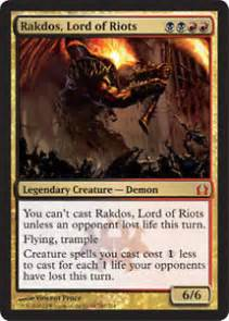 mtg magic the gathering black red rakdos deck exava ash