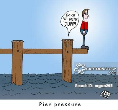 Pier Vs Peer by Pier Cartoons And Comics Funny Pictures From Cartoonstock