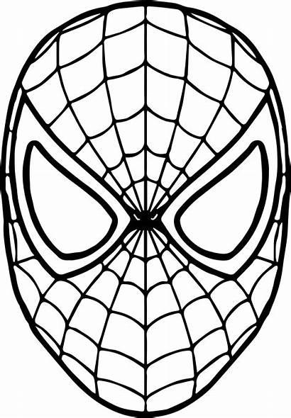 Spiderman Coloring Mask Pages Drawing Sheets Superhero
