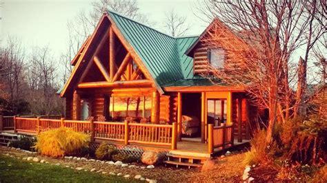 luxury log home  lake michigan brevort