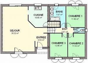 plan maison demi sous sol newsindoco With surface habitable maison individuelle