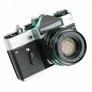 Vintage Manual Camera Isolated Over White Background