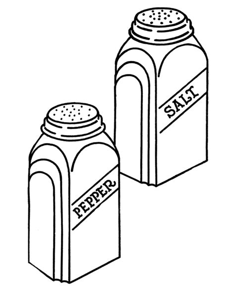 salt and pepper clipart black and white pictures of salt shakers cliparts co