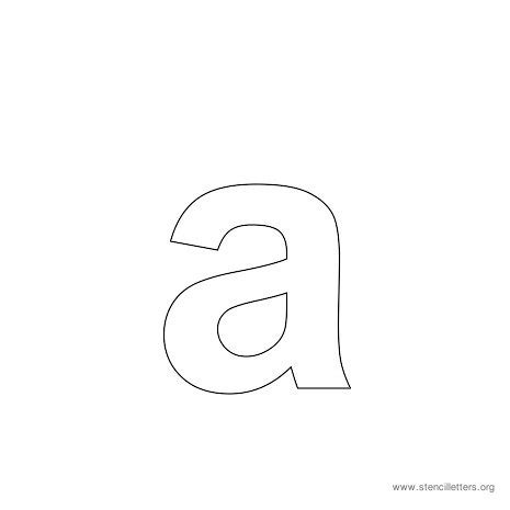 Lowercase Printable Letter Stencils