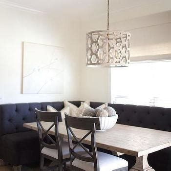 shaped upholstered dining banquette transitional