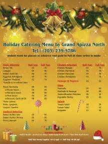 grand apizza north holiday catering menu 2016