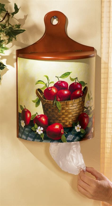 Apple Kitchen Decor Plastic Bag Holder pin by deanna hilbert on apples and cherries
