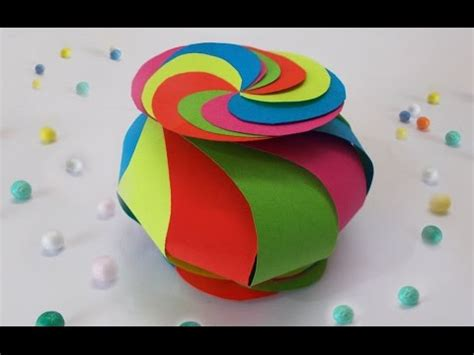 diy projects    cute twisted paper box easy