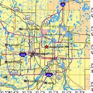 rosedale mn map