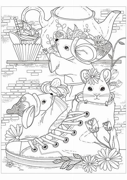 Mouse Coloring Pages Children Sheets Printable Adult