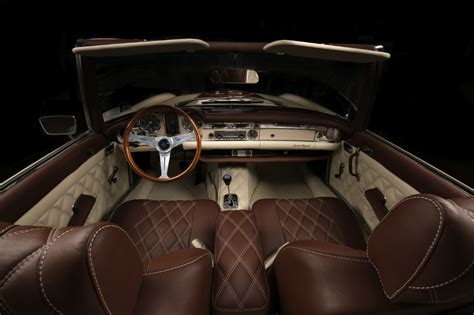 Auto Interiors And Upholstery by Mercedes W113 Pagoda Gets Vilner Treatment