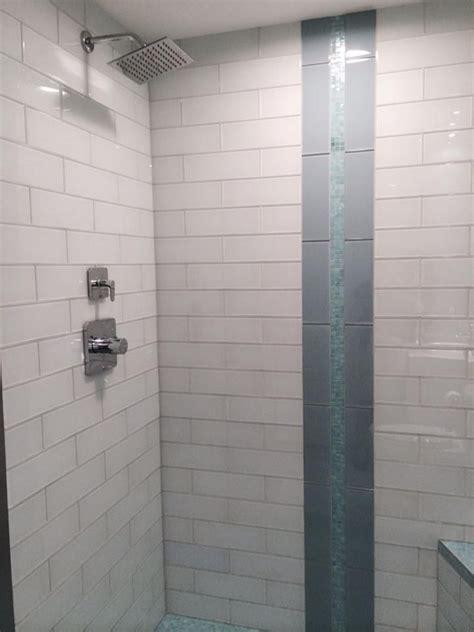 white glass    subway tile glass tile shower