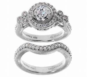 judith ripka sterling 185ct diamonique bridal ring set With diamonique wedding ring sets