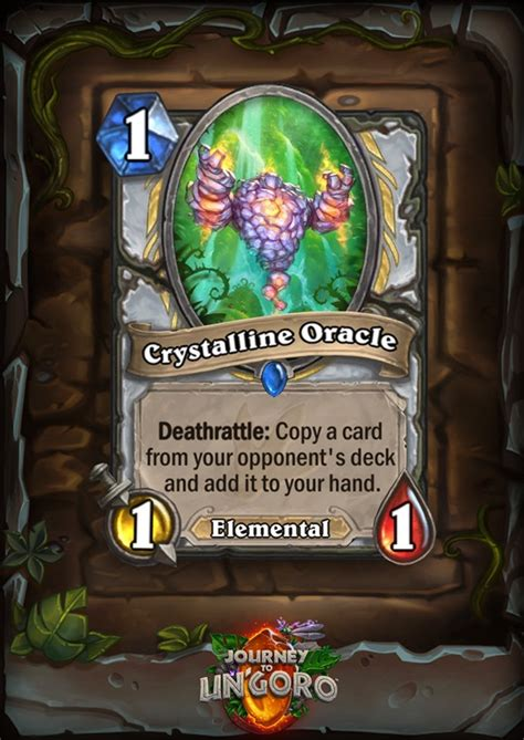 Priest Decks Ungoro by Begin Your Priest Quest Early With Crystalline Oracle
