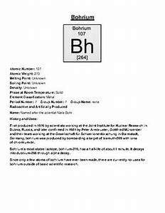Bohrium Facts, History and Uses by Pointer Education | TpT