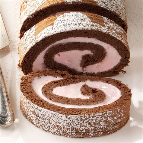 chocolate peppermint ice cream roll recipe taste  home