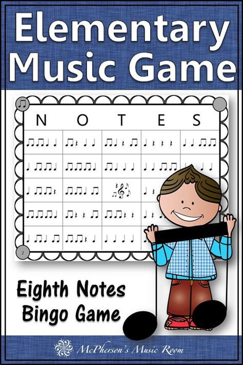eighth note rhythm bingo game    images
