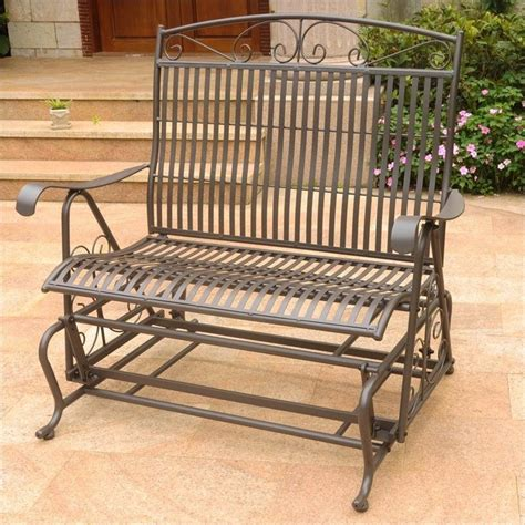 iron outdoor patio glider chair