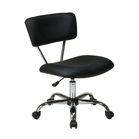ave six vista black vinyl office chair st181 v3 the home
