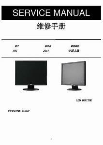 Aoc 201v Lcd Monitor Service Manual Download  Schematics