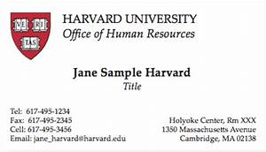 Business cards harvard mail print for Harvard business card