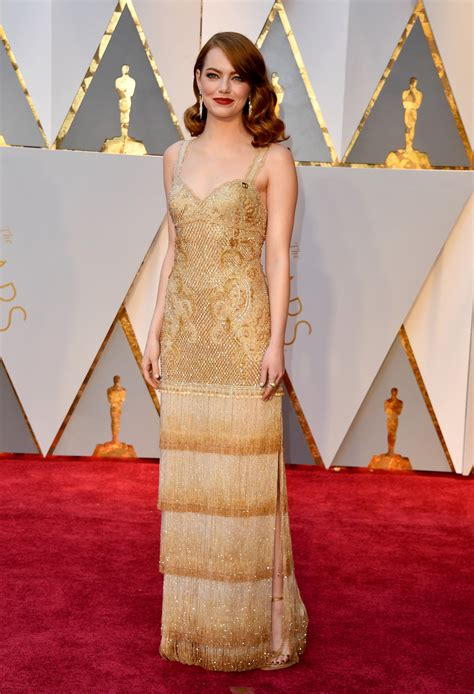 oscars  emma stone dressed  match  potential  actress award allure