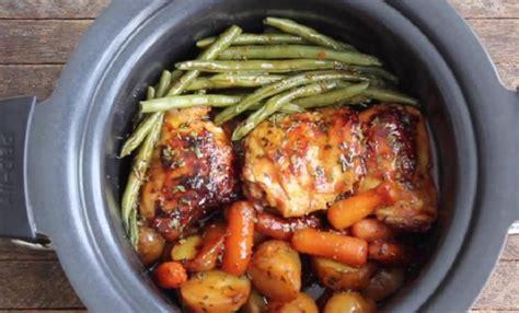 cuisses de poulet avec une sauce  lail  au miel une