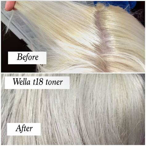 Before And After Using T18 Wella Toner On Bleach Hair How